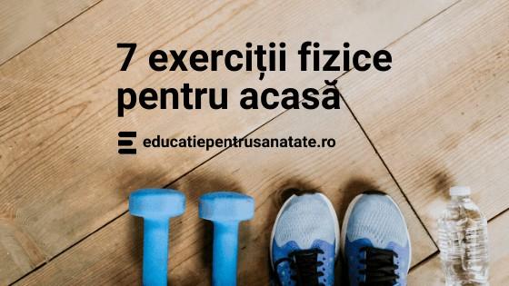 7 exerciții fizice pentru acasă